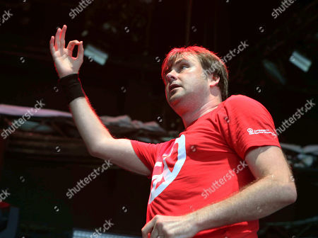 Stock Picture of Barney Greenway with Napalm Death performs as the opener for Slayer at Cellairis Amphitheatre at Lakewood, in Atlanta
