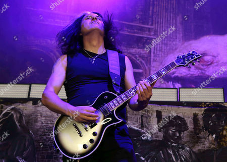 Alex Skolnick with Testament performs as the opener for Slayer at Cellairis Amphitheatre at Lakewood, in Atlanta