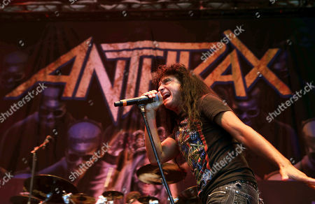 Scott Ian, Charlie Benante, Frank Bello, Joey Belladonna, Jonathan Donais. Scott Ian, Charlie Benante, Frank Bello, Joey Belladonna and Jonathan Donais with Anthrax performs as the opener for Slayer at Cellairis Amphitheatre at Lakewood, in Atlanta