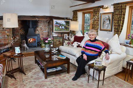 Stock Image of Wendy Craig at home