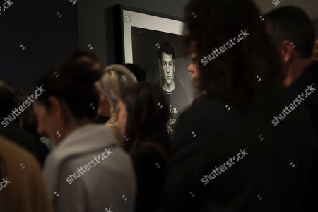 A portrait of the late Australian actor Heath Ledger is seen during a media preview of the 'Heath Ledger: A Life In Pictures' exhibition at the National Film and Sound Archive of Australia (NFSA) in Canberra, Australian Capital Territory, Australia, 10 August 2018 (issued 11 August 2018). The free exhibition celebrates the life and work of one of Australia's most acclaimed actors, and will run in Canberra from 10 August 2018 until 10 February 2019.