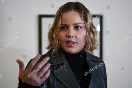 Australian actress Abbie Cornish speaks during a media preview of the 'Heath Ledger: A Life In Pictures' exhibition at the National Film and Sound Archive of Australia (NFSA) in Canberra, Australian Capital Territory, Australia, 10 August 2018 (issued 11 August 2018). The free exhibition celebrates the life and work of one of Australia's most acclaimed actors, and will run in Canberra from 10 August 2018 until 10 February 2019.