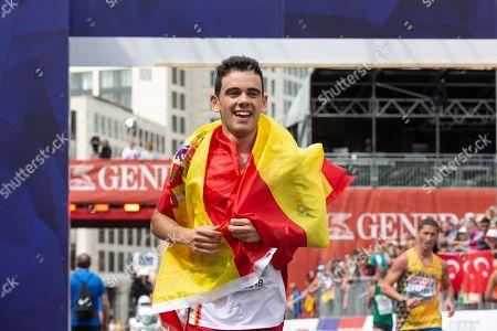Diego Garcia Carrera, ESP, silver medal. 20km Race Walk Men Final. Berlin street circuit.