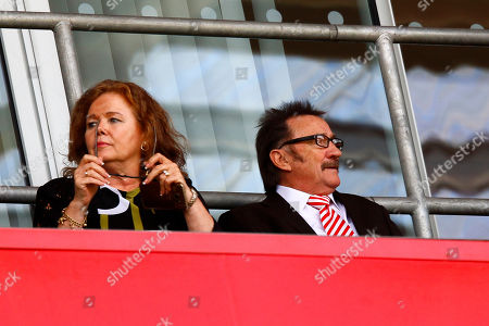 Paul Elliott, one half of the Chuckle Brothers and his wife Sue attend the Rotherham United v Ipswich Town match in memory of his brother Barry (Chuckle) Elliott