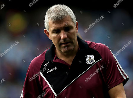 Dublin vs Galway. Galway manager Kevin Walsh dejected at the end of the game