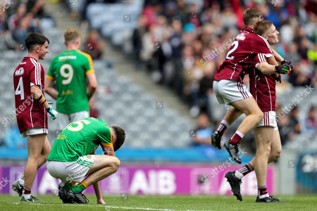 Galway vs Meath. Meath's Luke Mitchell dejected at the final whistle
