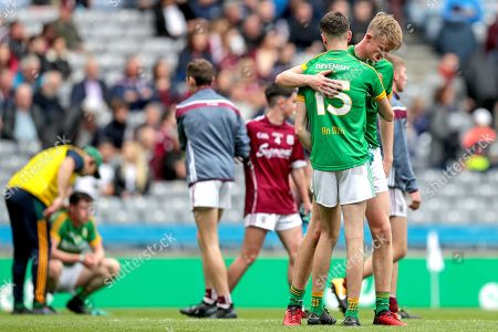 Galway vs Meath. Meath's Cian McBride and Luke Mitchell dejected