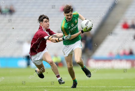 Galway vs Meath. Meath's Luke Mitchell with Cian Deane of Galway