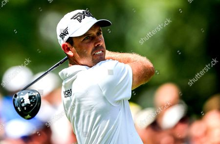 Charl Schwartzel of South Africa hits his tee shot on the fourth hole during the third round of the 100th PGA Championship golf tournament at Bellerive Country Club in St. Louis, Missouri, USA, 11 August 2018.