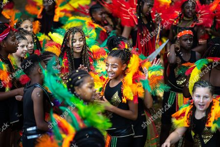 Editorial image of Moss Side Caribbean Carnival Procession, Manchester, UK - 11 Aug 2018