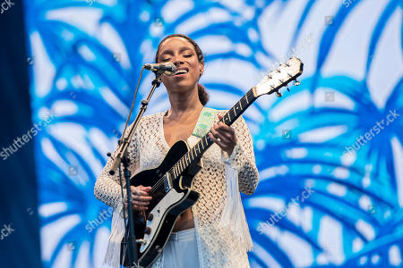 Britihs singer-songwriter Lianne La Havas performs during her concert on the third day of the 26th Sziget (Island) Festival on Shipyard Island, Northern Budapest, Hungary, 11 August 2018. The Sziget Festival is one of the biggest cultural events of Europe offering art exhibitions, theatrical and circus performances and above all music concerts. The festival runs between 08 and 15 August.