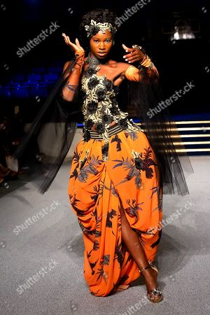 Editorial picture of Africa Fashion Week London, Day 2,  London, UK - 11 Aug 2018