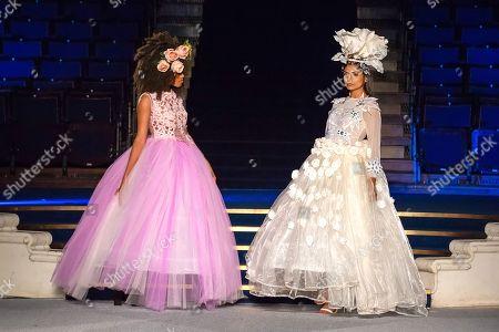 Model on the catwalk showcases Mary Martin design