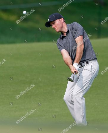 Russell Henley of the US on the eighth hole during the final round of the 100th PGA Championship golf tournament at Bellerive Country Club in St. Louis, Missouri, USA, 12 August 2018.