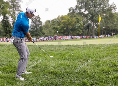 Charl Schwartzel of South Africa on the first green during the final round of the 100th PGA Championship golf tournament at Bellerive Country Club in St. Louis, Missouri, USA, 12 August 2018.