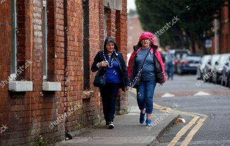 Stock Picture of Monaghan vs Tyrone. Eileen O'Connell and Mary Kelly, Clones arrive for the game