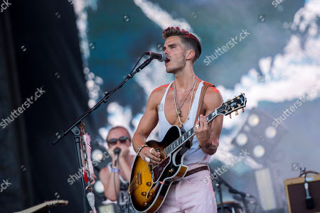 Singer and guitarist JJ Julius Son of Icelandic blues rock band Kaleo performs during their concert at the 26th Sziget (Island) Festival on Shipyard Island, Northern Budapest, Hungary, 12 August 2018. The Sziget Festival is one of the biggest cultural events of Europe offering art exhibitions, theatrical and circus performances and above all music concerts. The festival runs between 08 and 15 August.