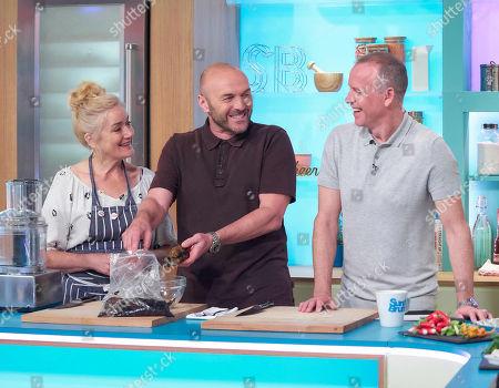Sophie Thompson, Simon Rimmer and Tim Lovejoy