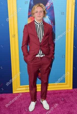 Redmond Gerard arrives at the Teen Choice Awards at The Forum, in Inglewood, Calif