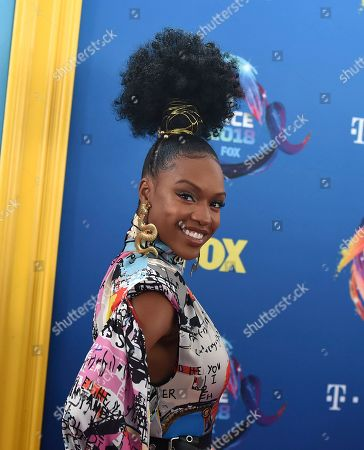 Michelle Mitchenor arrives at the Teen Choice Awards at The Forum, in Inglewood, Calif