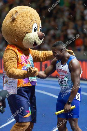 Harry Aikines-Aryeetey, British Team, European Champion, 4 x 100m Relay Men Final