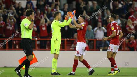 Luke Steele is the hero as he is congratulated on saving the decisive penalty