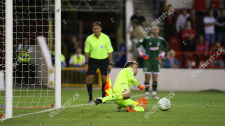 Luke Steele saves the final penalty as Forest go through