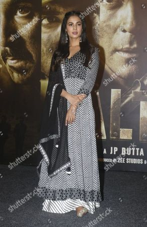 Huma Qureshi during the trailer launch of the film 'Paltan'