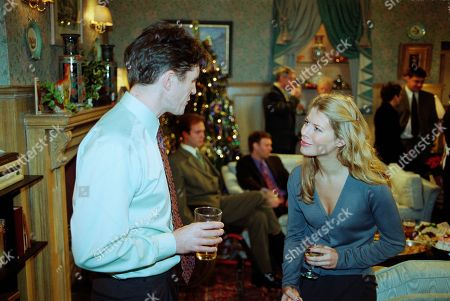 Ep 2626 Thursday 23rd December 1999 Chris's Christmas Party turns into a shambles when he catches Sean chatting up Claudia. The drunken Tate considers himself a better catch and makes a pass at her - much to Claudia's horror. Unable to put up with her boss's sleazy ways, the nanny immediately resigns - With Claudia Nash, as played by Susan Duerden ; Sean Reynolds, as played by Stephen McGann.