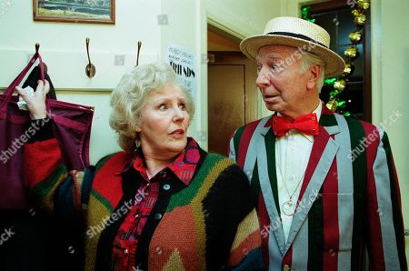 Ep 2622 Thursday 16th December 1999 Betty is left speechless when she realises that a face from her past has resurfaced - With Betty Eagleton, as played by Paula Tilbrook ; Reggie Wilkie, as played by Leslie Randall.