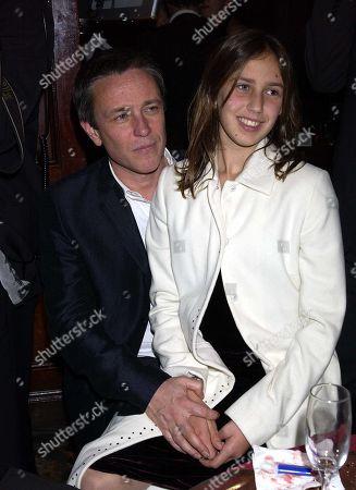 Damian Harris with His Daughter Ella Harris