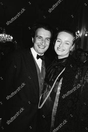 Kit Hesketh-harvey with His Wife Catherine Rabett