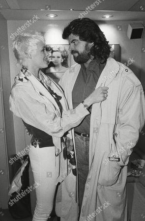 Brigitte Nielsen with Her Partner Mark Gastineau