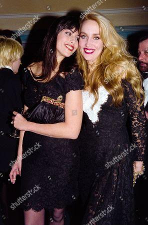 Julie Anne Friedman and Jerry Hall
