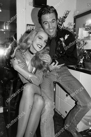 Shaun Cassidy and Jerry Hall Backstage