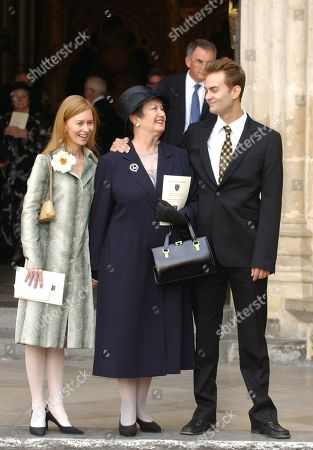 Stock Image of Janette Scott (daughter of Thora Hird) with Her Children Daisy Torme and James Torme