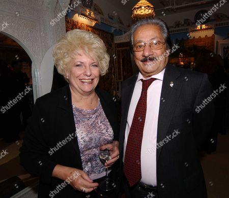 Nadim Sawalha with His Wife Roberta Sawalha