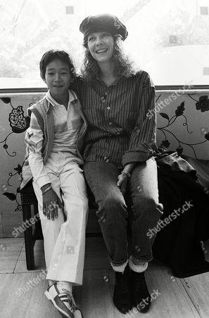 Jonathan Ke Quan and Kate Capshaw