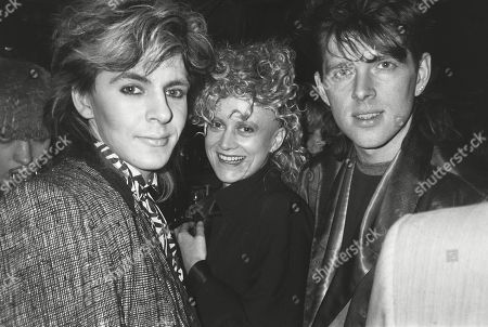 Nick Rhodes with Thompson Twins Alannah Currie and Tom Bailey