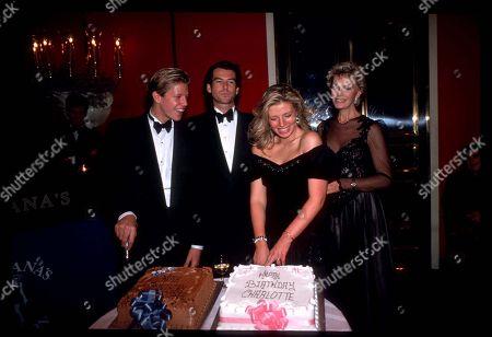 Pierce Brosnan with His Wife Cassandra Harris and Children Chris Brosnan and Charlotte Brosnan