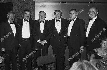 Franco Zeffirelli with Producers Menahem Golan and Yoram Globus and Alan Bond