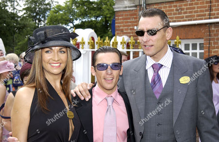 Vinnie Jones with His Wife Tanya Jones and Frankie Dettori