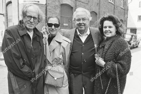 John Barry with His Wife Laurie Barry and Cubby Broccoli with His Wife Dana Broccoli