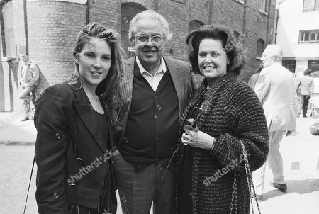 Cubby Broccoli with His Wife Dana Broccoli and Daughter Barbara Broccoli