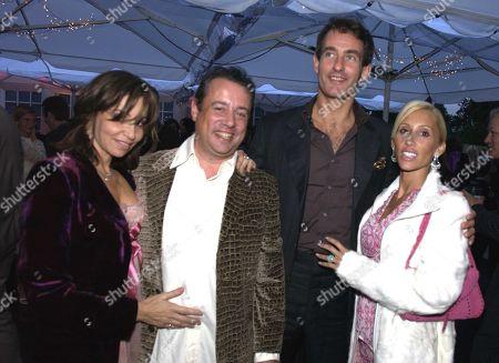 Hamish Mcalpine and Carole Siller with Tim Jefferies with Alexandra Miller (von Furstenberg)