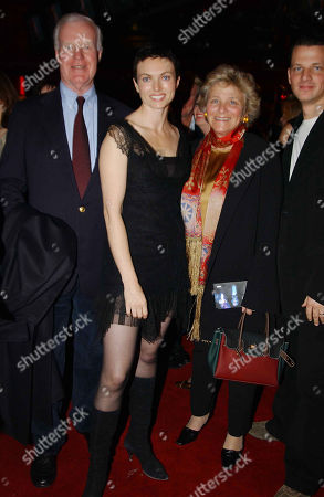 Sir Jocelyn Stevens with His Partner Dame Vivien Duffield Her Son George Duffield and His Wife Natasha Wightman (she in the Film)