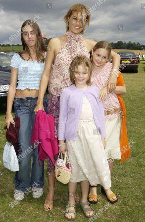 Stock Picture of Yasmin Le Bon with Her Daughters Amber Le Bon Tallulah Le Bon and Saffron Le Bon