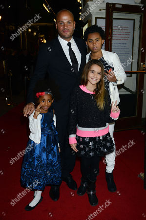 Stephen Belafonte with His Daughter Giselle and Step Children Angel Iris Murphy Brown Phoenix Chi Gulzar