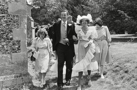 Editorial image of Wedding of Count Leopold (bolla) Von Bismarck to Debonnaire Jane Patterson London, UK - 1 Jan 1984