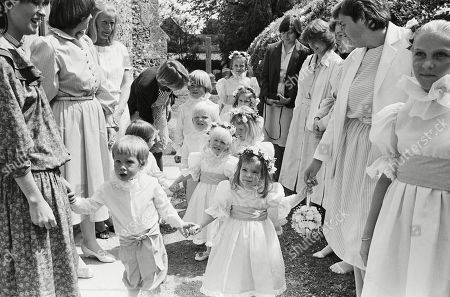 Stock Photo of The Bridesmaids with Lady Rose Margaret Alexander and Pageboys